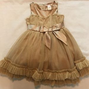 Janie and Jack Ornate Opera gold full formal dress